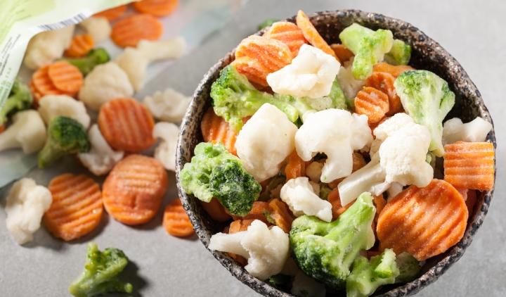 рынок замороженных овощей и грибов