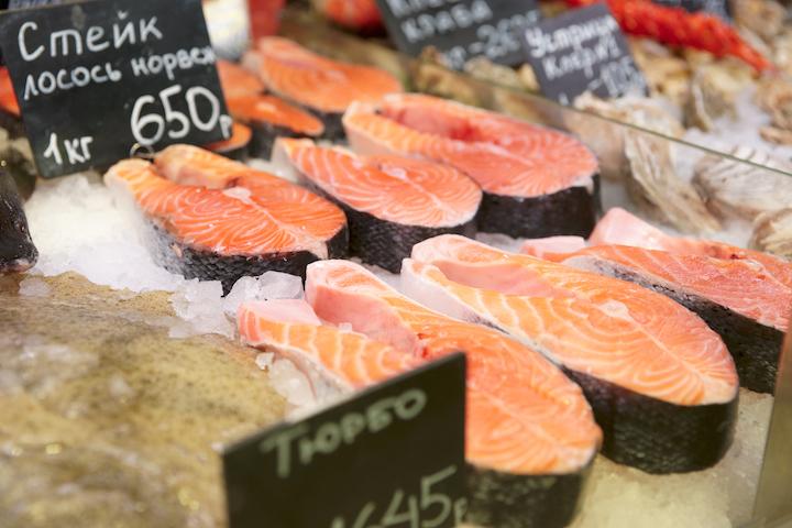 рынок лососевых рыб, рынок рыбы